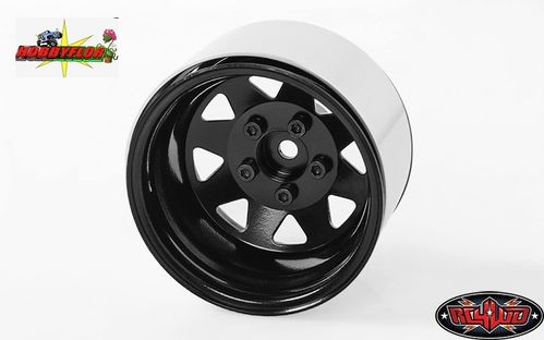 RC4WD 5 LUG DEEP DISH WAGON 1.9 STEEL STAMPED BEADLOCK WHEEL (BLACK) (1pc) hex 12mm Z-W0243-1