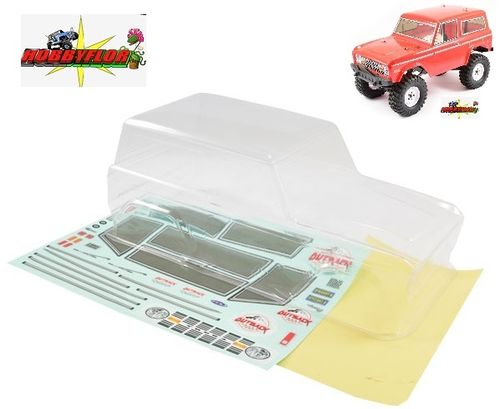 FTX OUTBACK FB (ford bronco) CLEAR LEXAN BODYSHELL W/MASK & DECALS  FTX8188 wheelbase 250mm