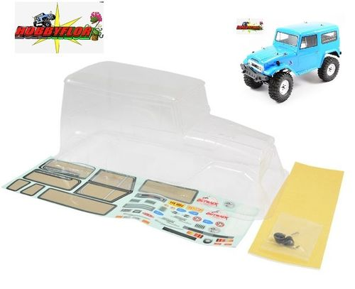 FTX8187 OUTBACK T40 (Toyota Fj 40) CLEAR LEXAN BODYSHELL W/MASK & DECALS wheelbase 250mm