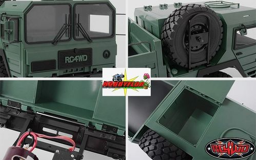 Mil-Spec Assembled Hard Body Set GREEN RC4WD Z-B0117 Inc Spare 1 Wheel & 1 Tyre the 6x6