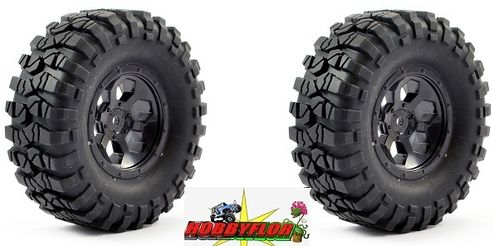 FTX OUTBACK PRE-MOUNTED 1.9 (2pc) - BLACK hex 12mm Diametro 104mm FTX8170B