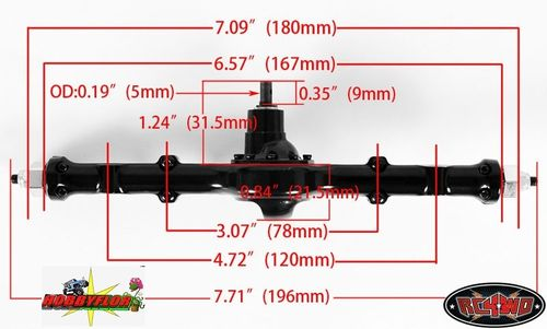 RC4WD YOTA ULTIMATE SCALE CAST STRAIGHT AXLE (REAR) Z-A0061