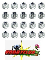 Team Associated M4 Locknut With Flange (20pc) AS25217