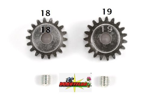 Tamiya RC AV Pinion Set 18/19T modulo 0.6 - 50355