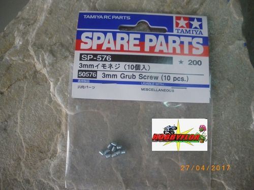 Tamiya Tornillos para piñon motor 3mm Grub Screw (10pc) 50576