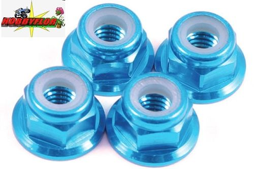 FASTRAX M4 BLUE FLANGED LOCKNUTS 4PCS FTM4BF