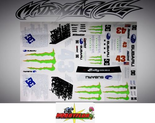 MATRIXLINE WRX/WRC OPTIONAL DECAL SHEET PC201006B