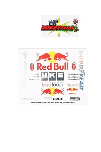 MATRIXLINE RB FORMULA DRIFT DE CALS SET RED BULL PC-A025
