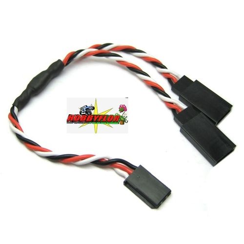 ETRONIX 15CM 22AWG FUTABA TWISTED Y EXTENSION WIRE (cable en Y) ET0751