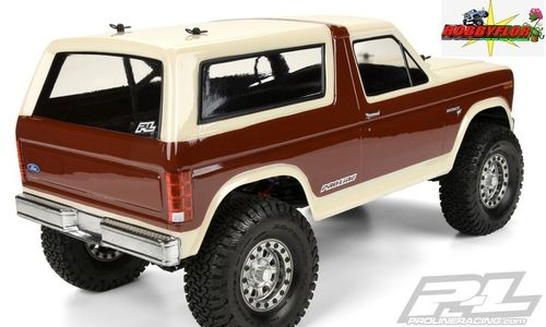 PRO-LINE 1981 FORD BRONCO CLEAR BODY 313MM W/B SCALE CRAWLER PL3472-00