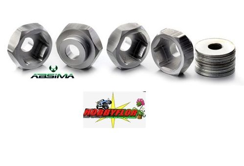 Absima Wheel Adapter 12mm to 17mm (4pc) incl. washer 2560020