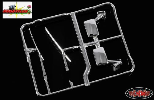 RC4WD MOJAVE - HILUX - BRUISER - MIRROR AND WIPER PARTS TREE (CHROME) Z-B0040