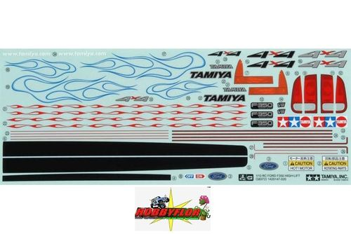 Tamiya RC Sticker Ford F-350 High-Lift 58372 - 9495491