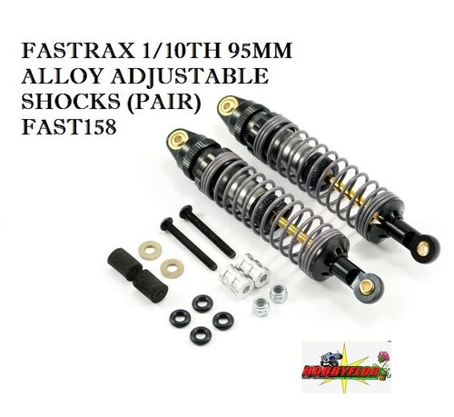 FASTRAX 1/10TH 95MM ALLOY ADJUSTABLE SHOCKS (PAIR) FAST158