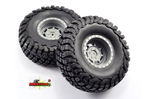 FASTRAX 1:10 CRAWLER GRANITE 2.2 SCALE WHEEL Ø140MM TYRE (GREY) FAST1267G