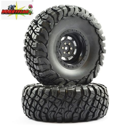 "FTX MAULER 2.2"" ALL TERRAIN TYRES PRE-GLUED ON BLACK WHEEL 2pc hex 12mm Diametro 140mm FTX8766B"