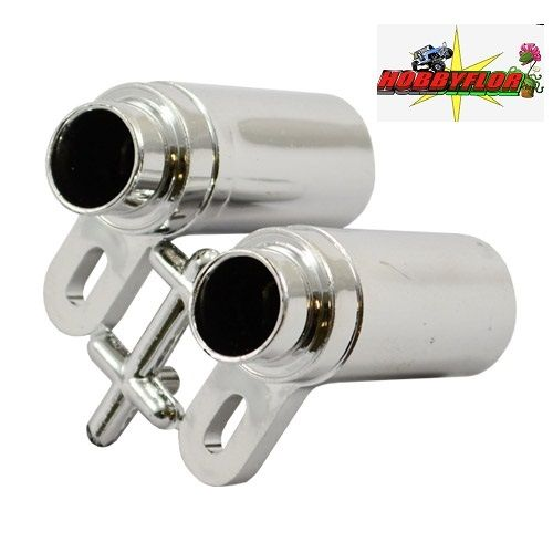 FASTRAX CHROME EXHAUST PIPES W/10, 20, 30 DEG MOUNTS FAST2203