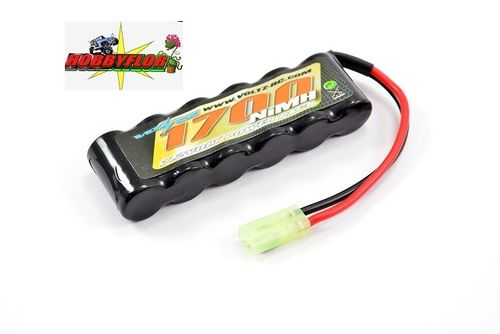VOLTZ 7.2V 1700MAH NIMH STRAIGHT BATTERY PACK W/MINI TAMIYA VZ0053