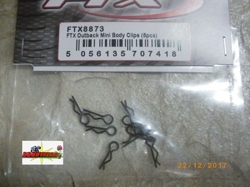 FTX OUTBACK MINI BODY CLIPS (8PC) FTX8873