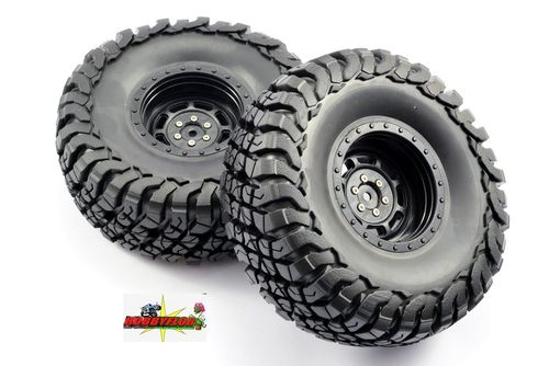 FASTRAX 1:10 CRAWLER GRANITE 2.2 SCALE WHEEL Ø140MM TYRE (BLACK) (2pc) FAST1267B