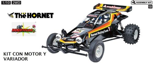 Tamiya RC The Hornet - 1/10 Re-Release Kit con motor y variador 58336