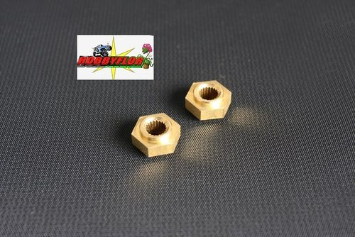 Tamiya Hex 12mm adaptador ejes Clod buster / Bullhead / TXT-1 RC Wheel Hub: 58089/65 2pc -  9805234