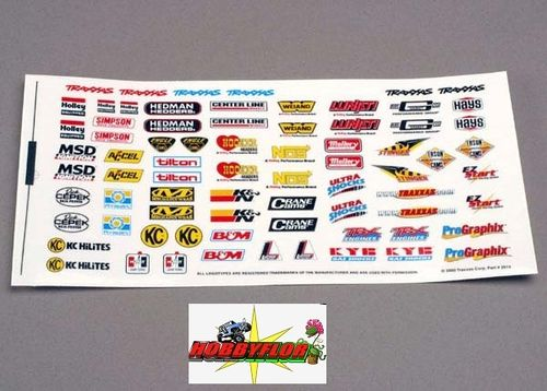 TRX2514 Traxxas pegatinas Decal sheet, racing sponsors