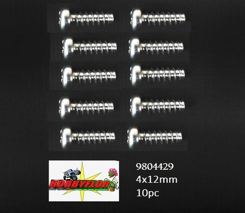 Tamiya RC 4x12mm Tapping Screw:(10pc) 58470 - 9804429