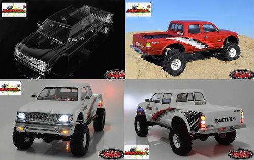 RC4WD 2001 TOYOTA TACOMA 4 DOOR BODY Lexan clear Wheel base 313mm Z-B0169
