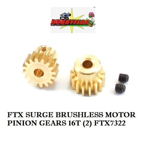 FTX SURGE BRUSHLESS MOTOR PINION GEARS 16T (2) FTX7322