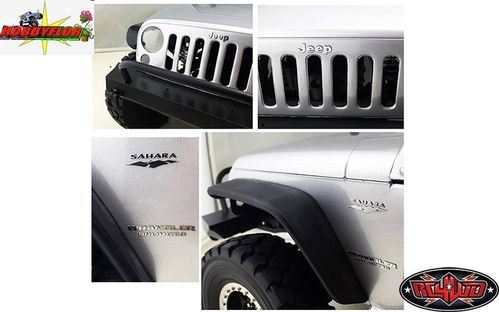 RC4WD METAL EMBLEMS FOR AXIAL SCX10 JEEP WRANGLER VVV-C0176