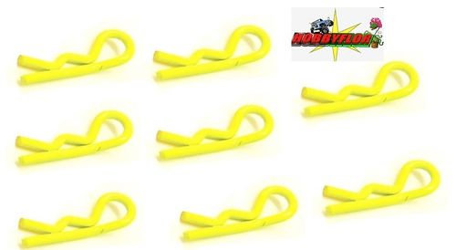 FASTRAX FLUORESCENT YELLOW SM CLIPS (8pc) FAST212FY
